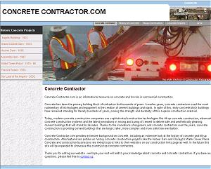 ConcreteContractor.com is an excellent example of a demanding online application for our photos. Construction Photographs pictures worked perfectly for this application. The 3000 pixel-wide images could be cropped and resized such that the resulting span pictures extend the width of the page's content area up to 1280 x 1024 resolution. Because of the large selection of free stock photography at Construction Photographs, Concrete Contractor.com was able to find a variety of photos for their pages without having to repeat pictures.