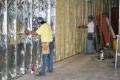 construction, crew, interior, insulation, gypsom board, sheetrock, walls, dry wall