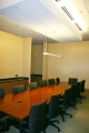 construction, conference table, indirect light, chairs
