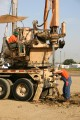 construction, sitework, preparation, pier drilling rig