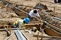 construction, sitework, preparation, water pipes, sewer lines