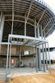 construction, canopy, entrance, outside, metal, framework, steel, rotunda