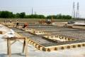 construction, sitework, preparation, concrete, cement, pour, rebar, form