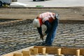 construction, sitework, preparation, concrete, cement, pour, rebar, form